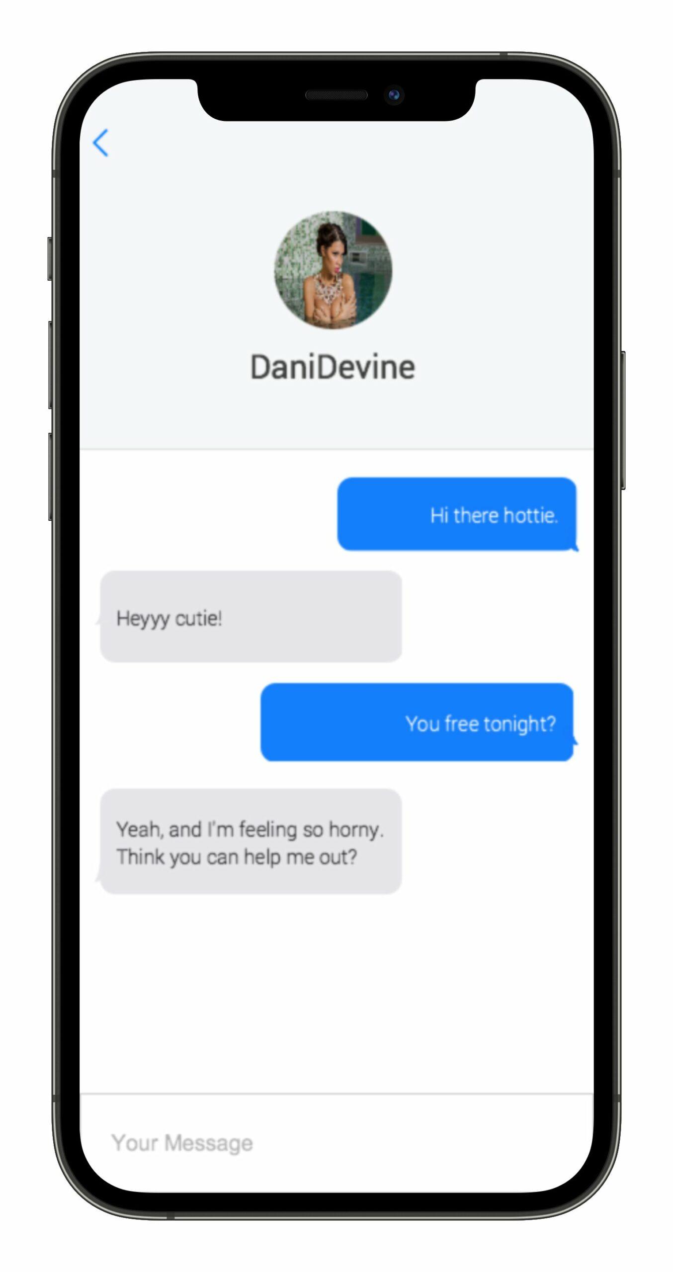 Uberhorny chat screen